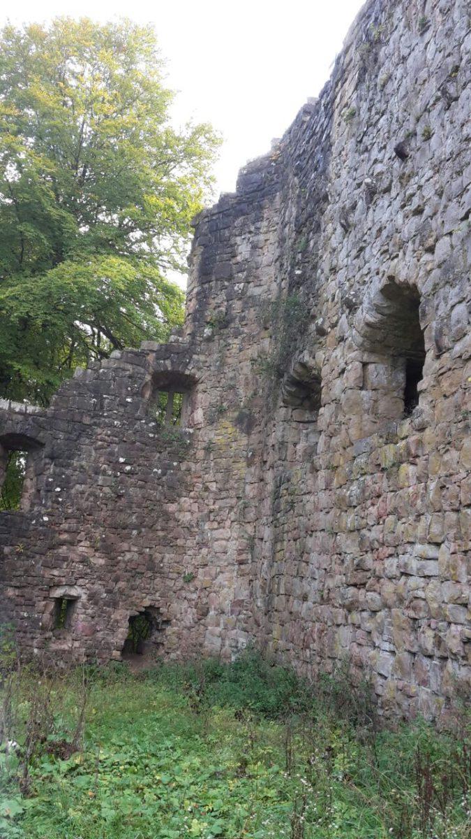 Innenhof der Ruine Lichtenfels