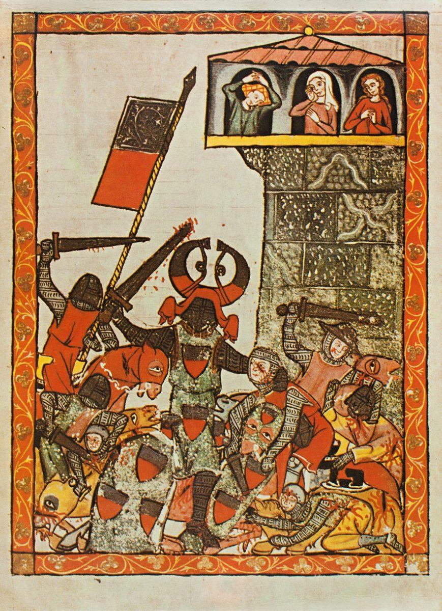 Miniatur aus der Manessischen Liederhandschrift